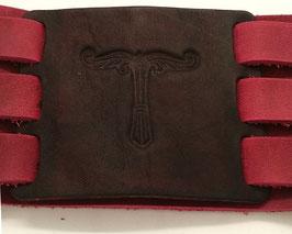 Lederpatche für Armband mit 3 Riemen