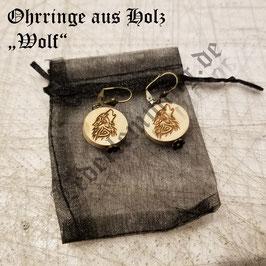 """Ohrringe aus Holz """"Wolf"""""""