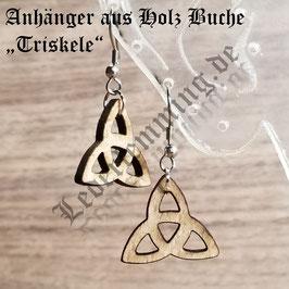 """Ohrringe aus Holz """"Triskele"""""""