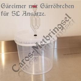 transparenter Gäreimer, Gärröhrchen, Portweinhefe (trocken)