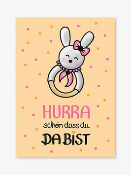 Postkarte Baby | Kleiner Hase