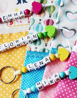 Schlüsselanhänger mit deinem Namen