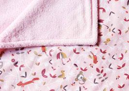Babydecke | kleine Tierfreunde rosa