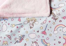 Babydecke | Einhorn hellrosa