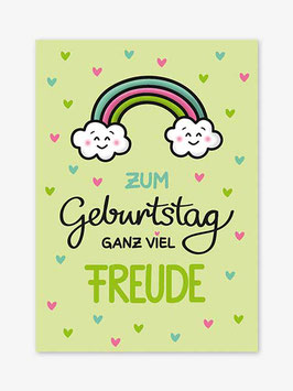 Postkarte Baby | bunter Regenbogen