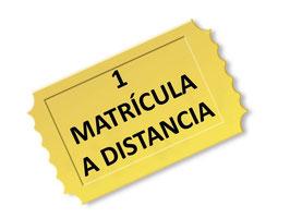 Matrícula modalidad A DISTANCIA