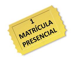 Matrícula modalidad PRESENCIAL