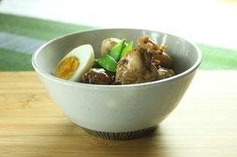 黒化粧縦線丼風盛鉢