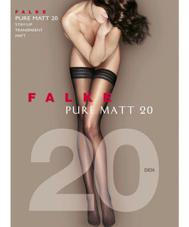 Falke Stay Ups Pure Matt 20Den
