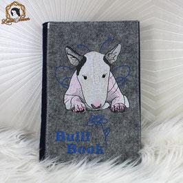 """Besticktes Dogbook aus Filz """"Bulli-Book"""" - DIN A5"""