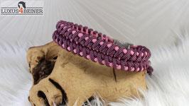 """Halsband """"Maggie"""" - matte Alu-Steckschnalle - für 35,5 cm Halsumfang"""