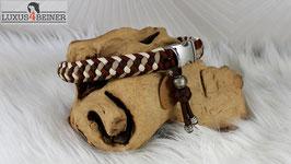 """Halsband """"Lotta"""" - Alu-Steckschnalle - für 34 cm Halsumfang"""