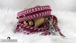 """Für Prinzessinnen: Halsband """"Marielyn"""" mit Leine """"Maxi"""" - für 46,5 cm Halsumfang"""