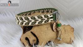 """Halsband """"Luna"""" - Alu-Steckschnalle - für 36 cm Halsumfang"""