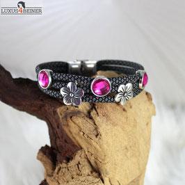 """Damen-Armband """"Pink & Blümchen"""" - für 18/19 cm Handgelenkumfang"""