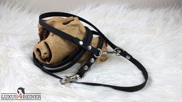 Handschmeichler-Leine aus Hexa-Gurtband - 10 mm breit - für kleine Hunde