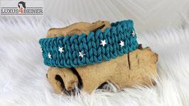 """Halsband """"Charlie"""" - Sternchen rundum - Alu-Steckschnalle matt - für 38 cm Halsumfang"""