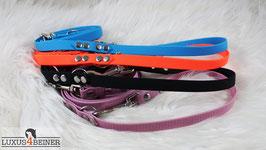 Handschmeichler-Leine aus Hexa-Gurtband - 16 mm breit - für mittelgroße Hunde