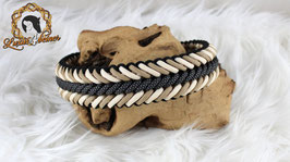 """Halsband """"Falco"""" - mit verstellbarem Biothane-Verschluss - ab 46 cm Halsumfang"""