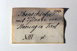 Historisches Handstück aus Bad Häring im Inntal