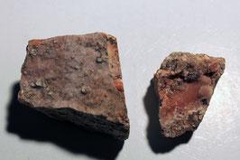 2x Fluorit mit Quarz aus Bach