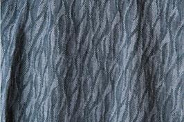 Dunkel-graublaue Wavelet-Ornamente (Leinen 100%)