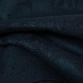 Schwarz dunkelblauer blumiger Jacquard