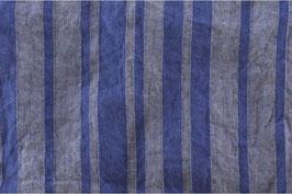 Gewaschenes Leinen blau-grau gestreift