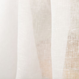 Semitransparentes reinweisses Leinen (Tagesvorhänge und Handarbeiten)