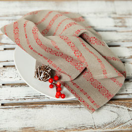 Leinenserviette - mit traditionellem Muster, in schwerer Qualität