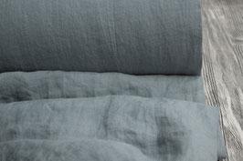 Breites Leinen in blau-grau, gewaschen