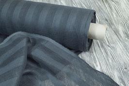 Feinste Tagesvorhänge in dunkelblau- grau mit Streifen (Überbreite)