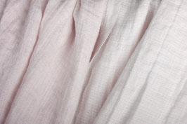 Rosa und off-white Duplex   (Gewaschenes Duplex Voll-Leinen)