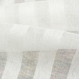 Wollweisse halbtransparente Tagesvorhänge mit vertikalen Streifen (Überbreite)