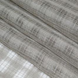 Ungefärbtes Vorhangleinen mit vertikalen Streifen, semitransparent (Überbreite)