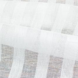 Reinweisse halbtransparente Tagesvorhänge in Überbreite