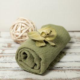 Duft von Moos und Tannen: Leinenhandtuch, grün-meliert (100% Leinen)