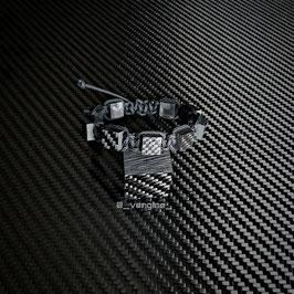 Real Carbon Bracelet Cubes Man