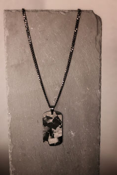 Real Forged Carbon Dog Tag