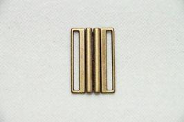 Schließe altgold für 4 cm Gurt