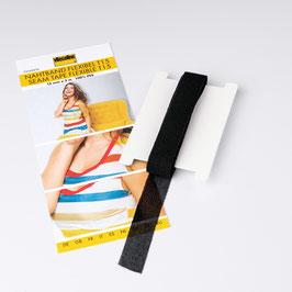 Nahtband Flexibel T15 - weiches elastisches aufbügelbares Band Breite: 15mm - waschbar bis 40°C - in schwarz
