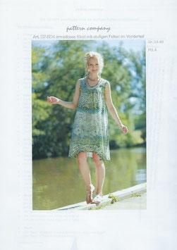 ärmelloses Kleid mit Raffung 02-604
