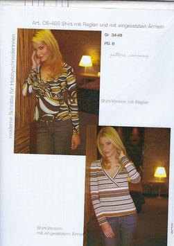 Shirt mit V-Ausschnitt und 2 Ärmelvarianten 06-466