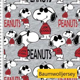 Snoopy Joe Cool Baumwolljersey GOTS zertifiziert - ca.145cm breit - 95% Baumwolle / 5% Elasthan