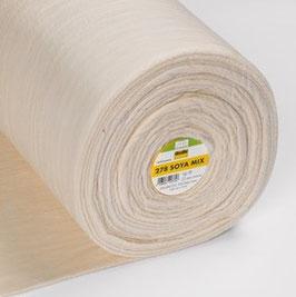Soya-Mix - Mittelschweres, sehr weiches nähbares Volumenvlies aus 50% Soja und 50% Baumwolle Breite: 1,52m