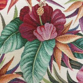 Hibiscus Gobbelin - ca. 20 m vorrätig - Baumwoll-Polyester-Mischung - 140 cm breit