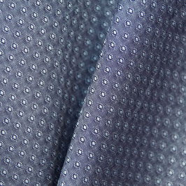 indigofarbener Popeline mit eingewebtem kleinen Muster - 100% Baumwolle - 140cm breit - 60° waschbar / für Mund-Nasen-Schutz geeignet