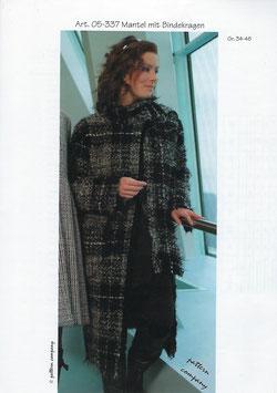 Mantel mit Bindekragen 05-337