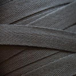 1,00 m Baumwoll-Köperband - schwarz - 14mm breit - waschbar