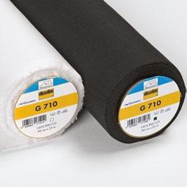 G710 - Mittelschwere aufbügelbare Gewebeeinlage aus reiner Baumwolle Breite: 90 cm - nur in weiss